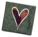 2x2 handpainted heart fridge magnet by eachanoriginal design