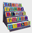 AB-200 Bright Alphabitz fridge magnet merchandiser for eachanoriginal
