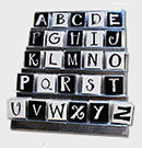 ABW-200 Black & White Alphabitz fridge magnet merchandiser for eachanoriginal