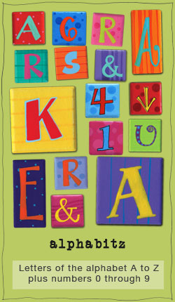 Our Bright product line of handpainted fridge magnets includes letters a-z and numbers 0 through 9- eachanoriginal design
