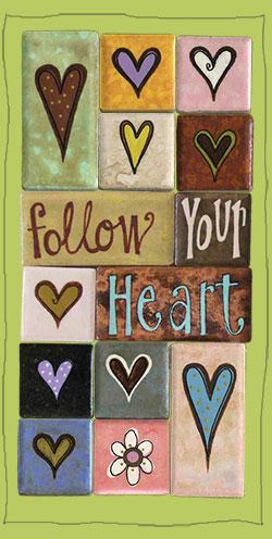 Follow Your Heart... zen fridge magnets by eachanorigainl.. contact us