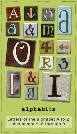Zen Alphabitz handpainted alphabet fridge magnets from eachanoriginal design company