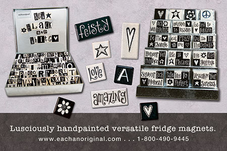 eachanoriginal fall 2015 ad for handpainted fridge magnets