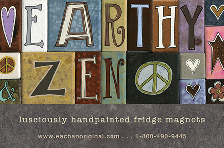eachanoriginal winter 2014 ad for handpainted fridge magnets
